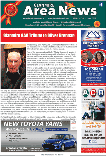 June 2018 Glanmire Area News