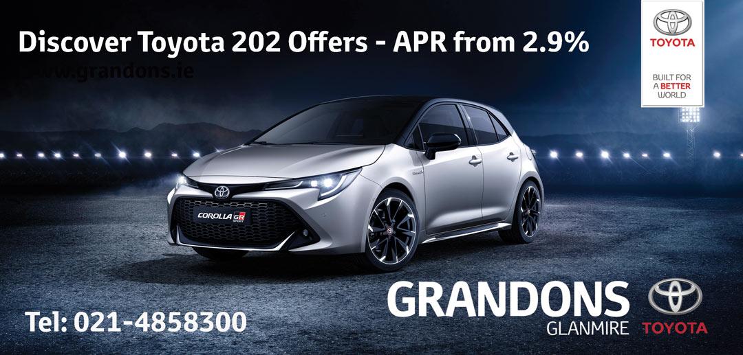Grandons Toyota Glanmire News July 2020